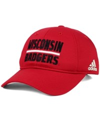 Adidas Wisconsin Badgers Travel Adjustable Slouch Cap Red