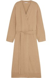 Tomas Maier Belted Cashmere Cardigan Beige