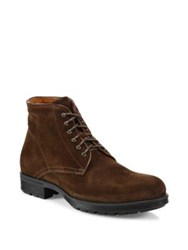 Aquatalia By Marvin K Harvey Suede Work Boots Brown