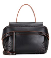 Tod's Wave Small Leather Tote Black