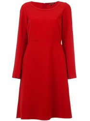 Luisa Cerano Fit And Flare Dress Women Polyester Polyurethane 38 Red