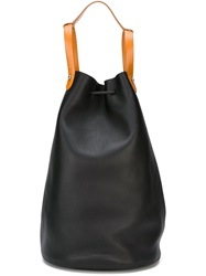 Jil Sander Drawstring Bucket Bag Black