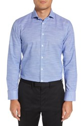 Calibrate 'S Big And Tall Extra Trim Fit Non Iron Dress Shirt Blue Sodalite