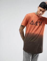 Antioch Dip Dye Symbol T Shirt Brown