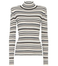 Chloe Cotton Wool And Cashmere Sweater Multicoloured