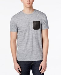 Kenneth Cole Reaction Men's Nep Faux Leather Pocket T Shirt Bayview