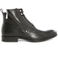 Paul And Joe Solda Black Laced Boots With Side Zips