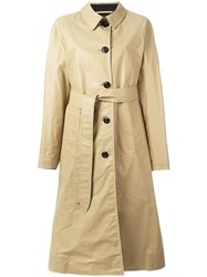 Christophe Lemaire Belted Overcoat Nude Neutrals