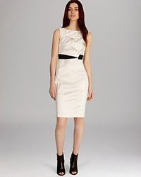 Karen Millen Dress Summer Tuxedo Ivory