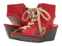 Fly London Yaba702fly Street Red Suede Women's Shoes