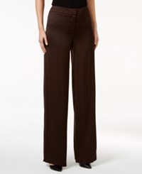 Alfani Petite Wide Leg Pants Only At Macy's Espresso Roast