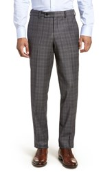 Ted Baker London Jefferson Flat Front Solid Wool Trousers Burgundy