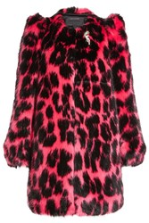 Marc Jacobs Printed Faux Fur Coat Animal Print