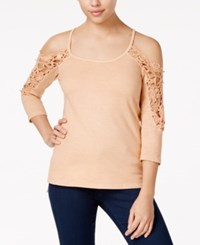 American Rag High Low Cold Shoulder Top Only At Macy's Dusty Coral