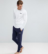 Fila Vintage Lounge Joggers With Double Waistband In Navy