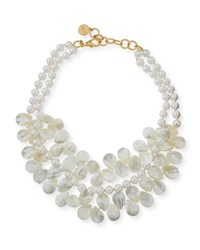 Nest Two Strand Mother Of Pearl Necklace