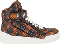 Givenchy High Top Star Ankle Strap Sneakers Orange