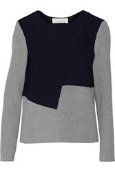Thakoon Crossover Two Tone Waffle Knit Top