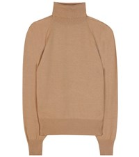 The Row Teresa Wool And Cashmere Turtleneck Beige