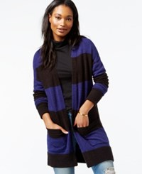 Maison Jules Striped Open Front Cardigan Only At Macy's Bright Sapphire