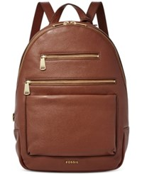 Fossil Piper Leather Backpack Brown