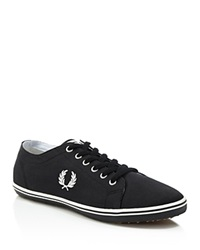 Fred Perry Kingston Twill Sneakers Black Porcelain