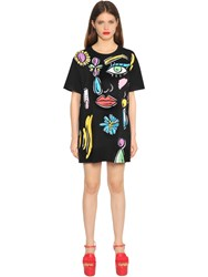 Boutique Moschino Beauty Print Cotton Jersey T Shirt Dress
