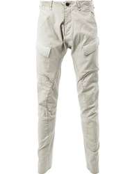 Masnada Fitted Tapered Trousers Men Cotton Spandex Elastane 52 Nude Neutrals