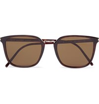 Saint Laurent Square Frame Tortoiseshell Acetate Sunglasses Brown