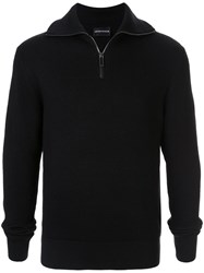 Emporio Armani Ribbed Jumper Black