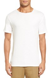 Vince Men's Raw Edge Crewneck T Shirt Pearl