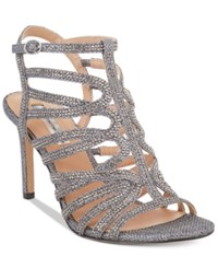 Inc International Concepts Women's Gawdie Caged Sandals Only At Macy's Women's Shoes Pewter