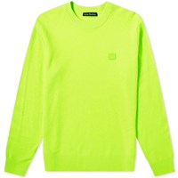 Acne Studios Nalon Face Crew Knit Green