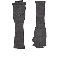 Barneys New York Women's Fingerless Gloves Grey