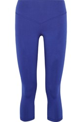 Olympia Activewear Mateo Cropped Stretch Jersey Leggings Royal Blue