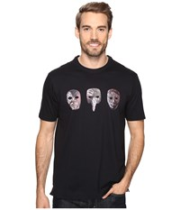 Robert Graham Eyes Wide Shut Short Sleeve Knit T Shirt Black Men's T Shirt