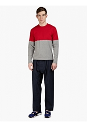 Marni Men's Navy Oversized Cotton Trousers