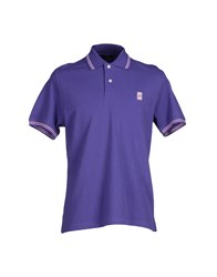 Fay Topwear Polo Shirts Men Purple