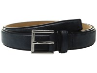 Cole Haan 30Mm Belt With Pressed Edge And Heat Crease Detail Blazer Blue Men's Belts