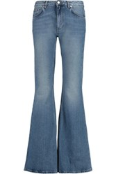 Acne Studios Mello Mid Rise Faded Flared Jeans Mid Denim