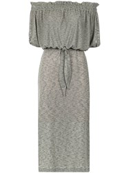 Lilly Sarti Off The Shoulder Dress Cotton Polyester Spandex Elastane Grey