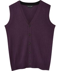 Austin Reed Merino Purple Marl Button Tank