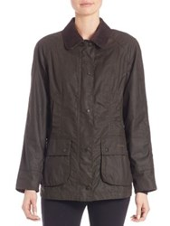 Barbour Classic Beadnell Waxed Cotton Jacket Olive
