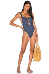 Motel Everette One Piece Swimsuit Blue