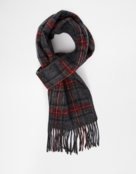Selected Double Scarf Grey