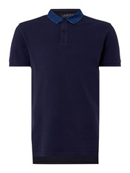 Criminal Jack Short Sleeve Polo Navy