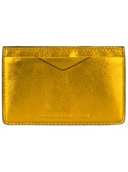 Alexander Mcqueen Classic Cardholder Yellow Orange