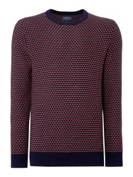 Criminal Grange Tuck Stich Crew Neck Jumper Navy