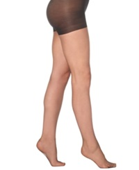 Hanes Plus Size Sheer Absolutely Ultra Sheer With Control Top Hosiery Jet