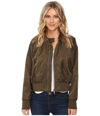 Free People Midnight Bomber Moss Women's Coat Green